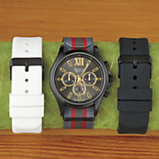 men s interchangeable strap watch set