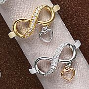 10k gold diamond eternity heart ring