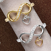 10k gold diamond eternity heart ring