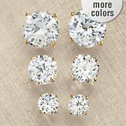 cubic zirconia 3 pair earring set