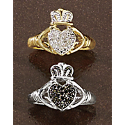 diamond claddagh ring 4