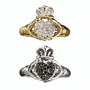 diamond claddagh ring 4