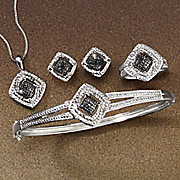 black diamond complete jewelry set