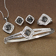 black diamond complete jewelry set