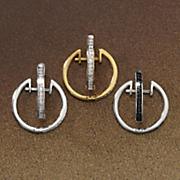 diamond 3 pair hoop earrings set
