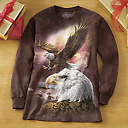 eagle and clouds long sleeve tee