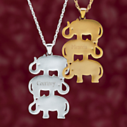 elephant name pendant