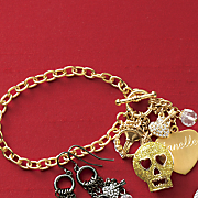 Glitter-Skull Personalized Bracelet