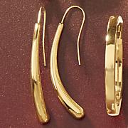 14k gold nano diamond resin arc drop earrings