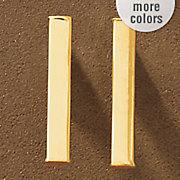 10k gold bar post earrings