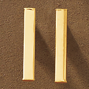 10k gold bar post earrings