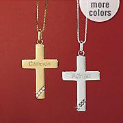 name diamond cross pendant