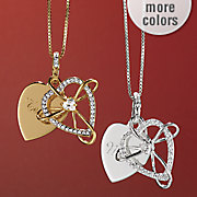 name cubic zirconia heart pendant