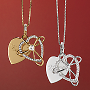 Name Cubic Zirconia Heart Pendant