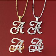 initial diamond jewelry