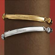 3 bar name bracelet