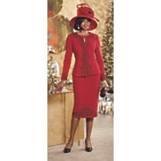 margerie hat and skirt suit