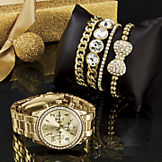 5 pc  watch and bracelet set