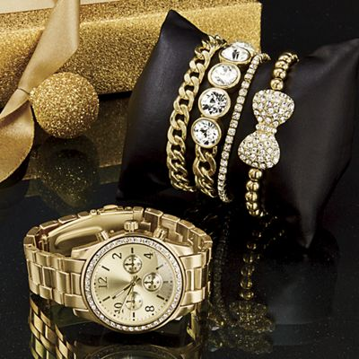 5-Piece Watch and Bracelet Set