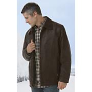 distressed straight bottom leather jacket