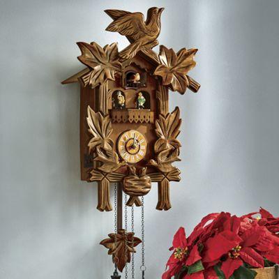 Birds and Leaf Cuckoo Clock