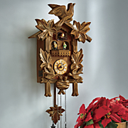 birds and leaf cuckoo clock