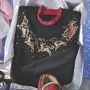 women s santa sleigh sweatshirt