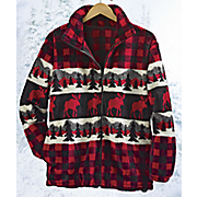 mountain plaid fleece