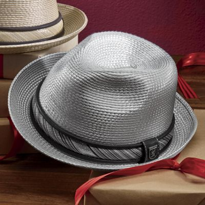 Metallic Braid Fedora by Stacy Adams