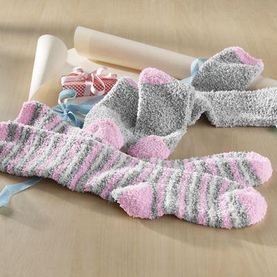 2-Pair Knee-High Softee Stripe Socks