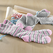 2 pair knee high softee stripe socks