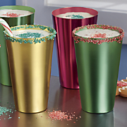 6 pc  aluminum holiday tumbler set