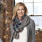 reversible plaid blanket scarf