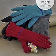 women s sensor touch zipper pocket glove