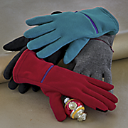 women s sensor touch zipper pocket glove