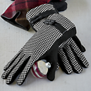 women s houndstooth lined glove