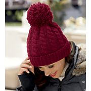 women s pom pom knit hat