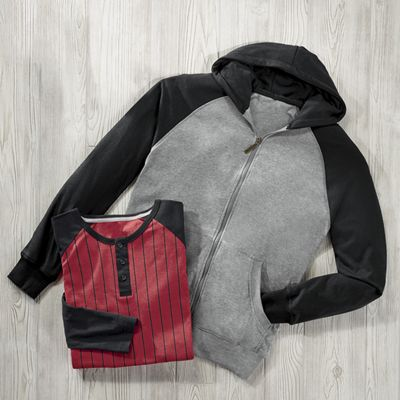 Men's Hoodie with Long-Sleeve Tee