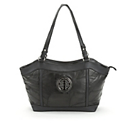 Adrienne Patched Leather Handbag by Marc Chantal