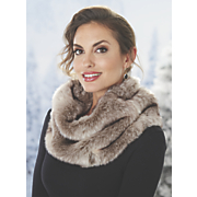 monroe faux fur fleece lined snood