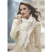 ruffle knitted scarf