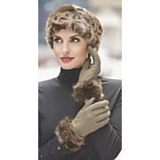 women s monroe faux fur headband with fleece lining
