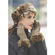 women s monroe faux fur headband with fleece lining