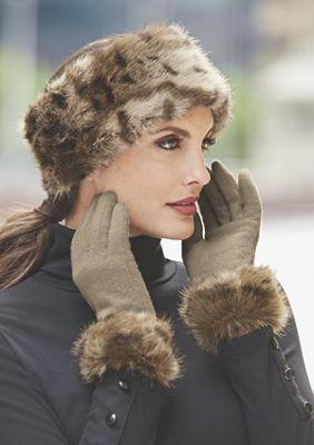 Women's Monroe Faux Fur Headband with Fleece Lining