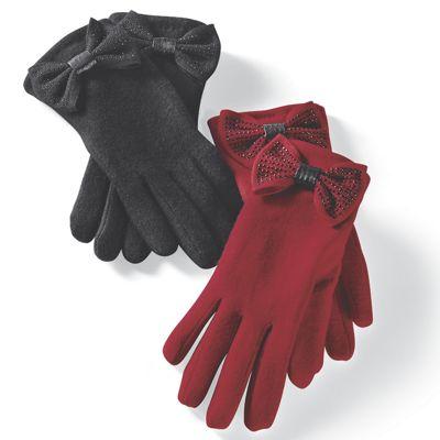 Jolie Rhinestone Bow Glove