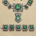Green Faux Marcasite Bracelet