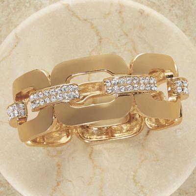 Crystal Link Stretch Bracelet