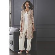 Cassie Lace Jacket, Faux Pearl/Crystal Jewelry, Rhona T-Strap