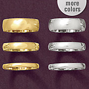 2mm unisex gold band