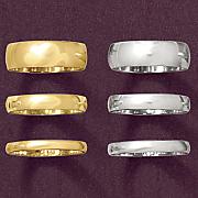 2mm unisex gold band